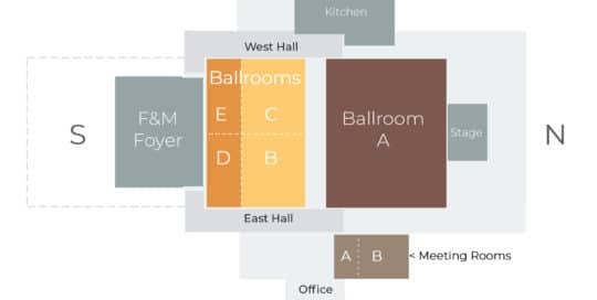 Nielsen Center Facility Map