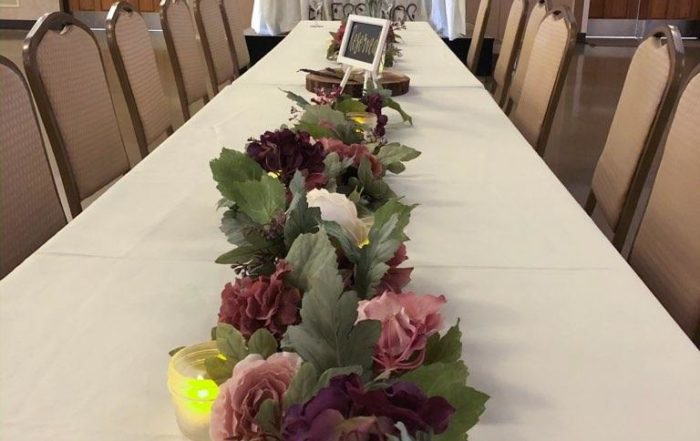 Nielsen Center Wedding Table Decorations 2
