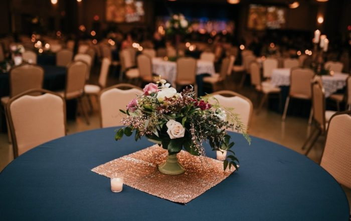 Nielsen Center Wedding Table Decorations 1